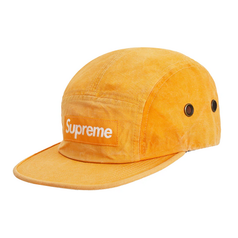 Supreme Washed Linen Camp Cap Gold