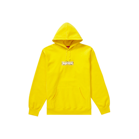Supreme Bandana Box Logo Hooded Sweatshirt Yellow