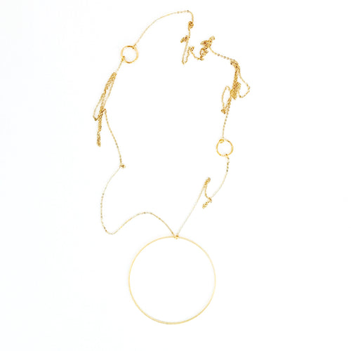 THREE GOLD RINGS NECKLACE