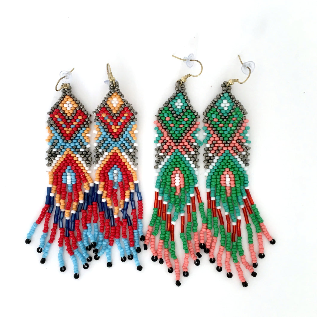 DESERT FLOWER BEADED EARRINGS