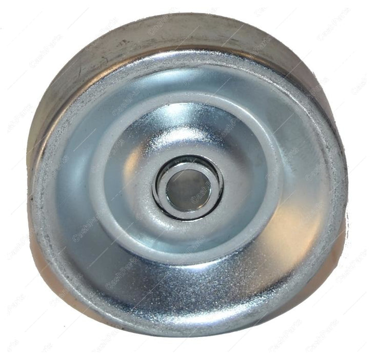 Hrdwr124 Zinc Plated Steel Wheel With Offset Bushing