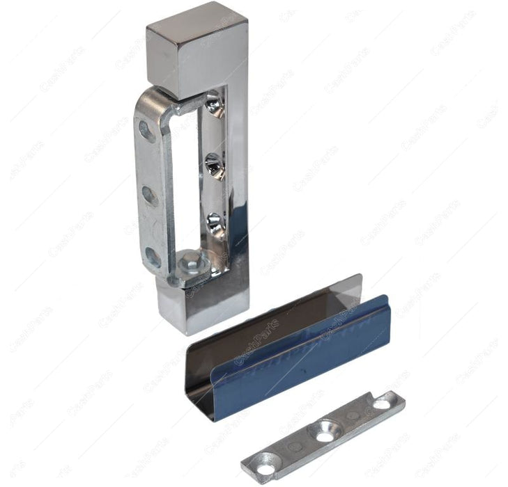 Hrdwr141 Chrome Plated Hinge (No Spring) HARDWARE