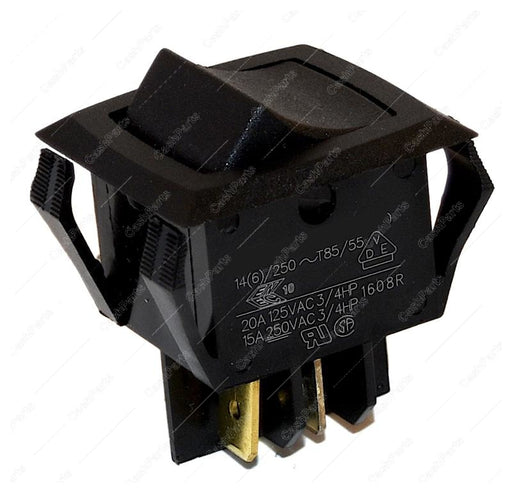 Sw002 Black Rocker 20A/250Vac Dpst Electrical Switches