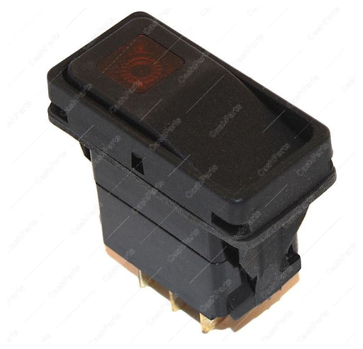 Sw007 Red Neon Rocker Black Raised Bracket 10A 250Vac 1/2Hp 15A 125Vac 1/2Hp Dpdt Electrical Switches