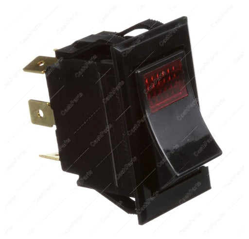 Sw210 Black Rocker Switch Red Lighted 15A 125V 10A 250V Dpdt Electrical Switches