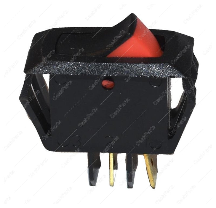Sw228 Black Plastic Rocker Switch With Red Accent 20A 125V 15A 250V Spst Electrical Switches