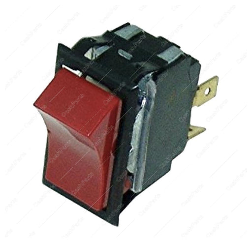 Sw234 Black & Red Plastic Rocker Switch 20A 125-250V Spst Electrical Switches