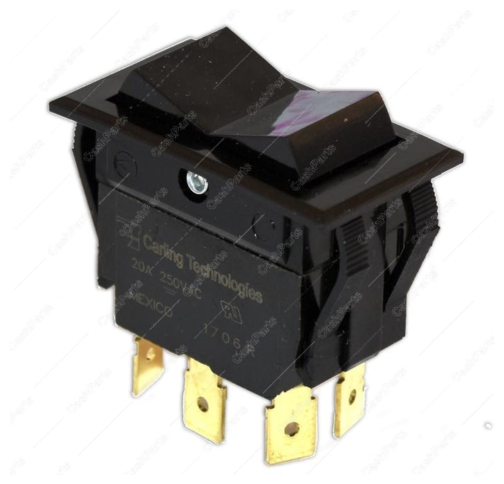 Sw251 Black Rocker 20A 250V Dpdt Electrical Switches