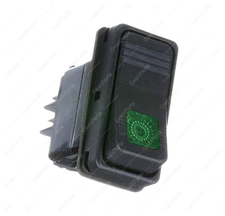 Sw259 Black Rocker Switch Green Light 15A 125V 10A 250V Spst Electrical Switches