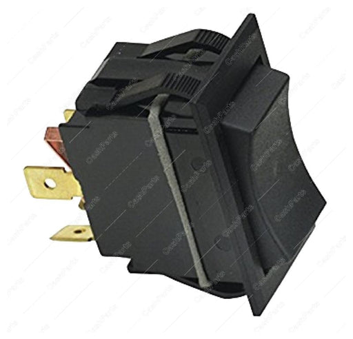 Sw284 Black Rocker Switch 20A 125-277Vac Dpst Electrical Switches