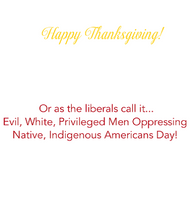 Greeting Card: Thanksgiving-Politically Correct Version