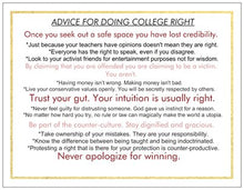 Greeting Card: Congrats H.S. Graduate-Advice for College
