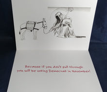 Greeting Card: Get Well Soon...Or you will be voting Democrat