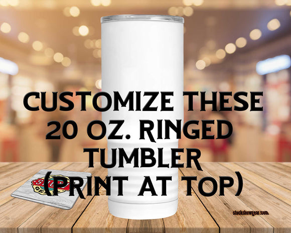 Tapered Ring Bottom 20oz White Tumbler-Blank
