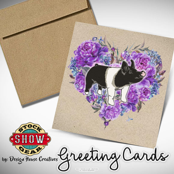Floral Heart Swine Stationary