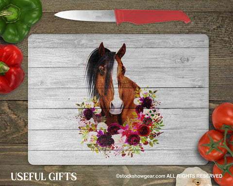 Beautiful Horse Head Glass Cutting Boards