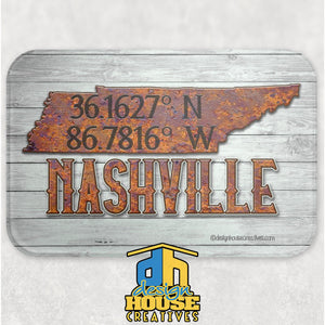 Nashville Tennessee Glass Cutting Board
