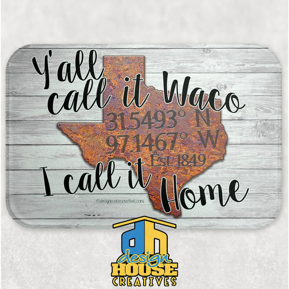 Waco Texas Glass Cutting Board