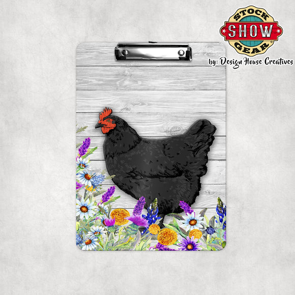 Black Orpington Hen Clipboard