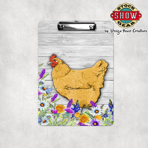 Buff Orpington Hen Clipboard