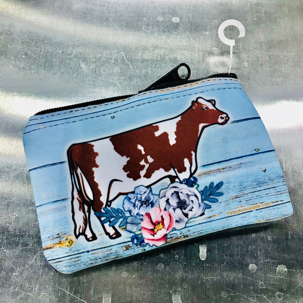 Dairy Cow Neoprene Coin Purse