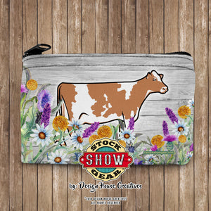 Guernsey Dairy Cow Neoprene Coin Purse-Patterns