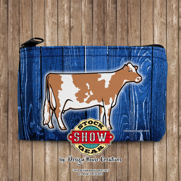 Guernsey Dairy Cow Neoprene Coin Purse