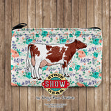 Milking Shorthorn Dairy Cow Neoprene Coin Purse-Patterns