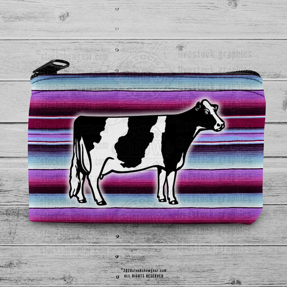 Holstein Dairy Cow Neoprene Coin Purse-Patterns