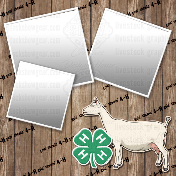4-H Saanen Dairy Goat Scrapbook Paper 12x12 Digital Download
