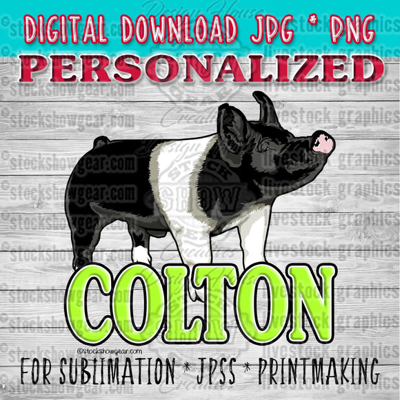 Personalized Single Livestock Graphic Digital Download