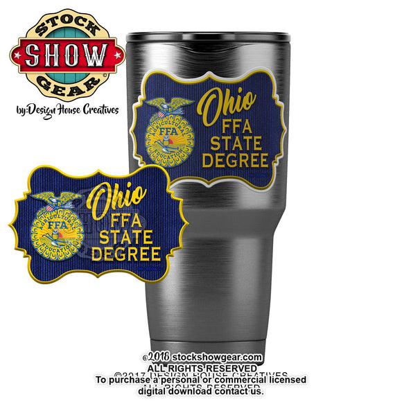 Ohio FFA State Degree Sticker