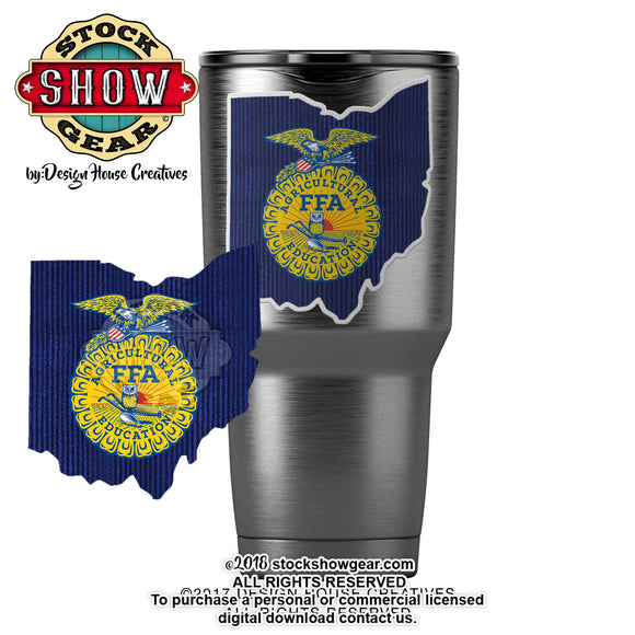 Ohio State Shape FFA Sticker
