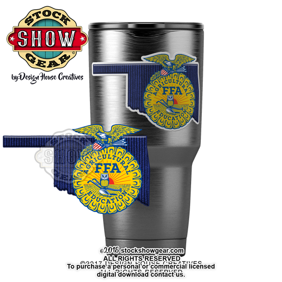 Oklahoma State Shape FFA Sticker