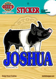 Hampshire Pig Personalized Sticker
