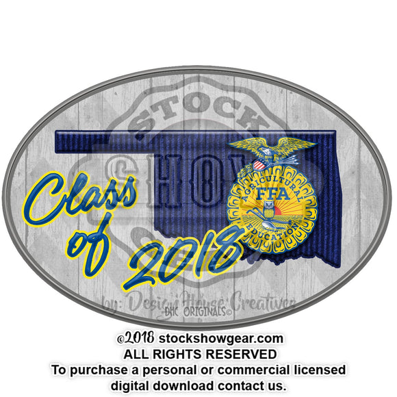 Oklahoma FFA Class of Sticker