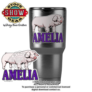 Landrace Pig Personalized Sticker