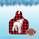 Ear Tag Shaped Christmas Ornaments-HOT!