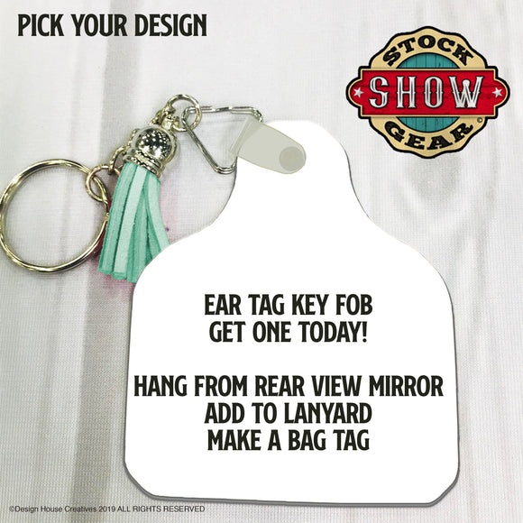 Ear Tag Key Fob-Customizable