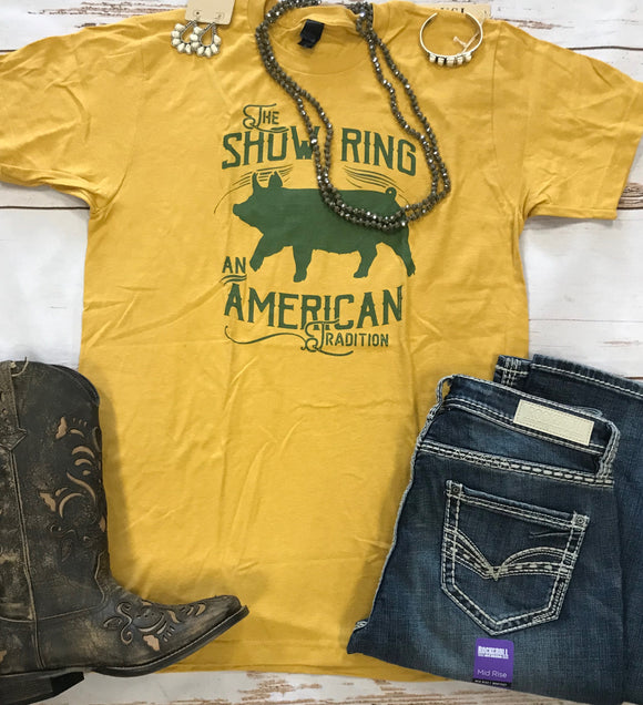 American Tradition Up-Eared Pig Show Ring T-shirt