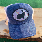 Show Rabbit Gray Floral Design Hats