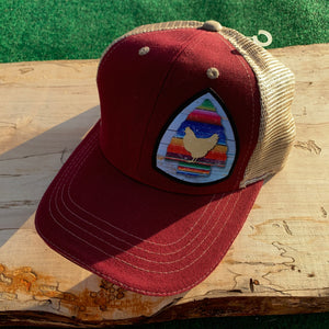 Chicken Serape Arrow Design Hat