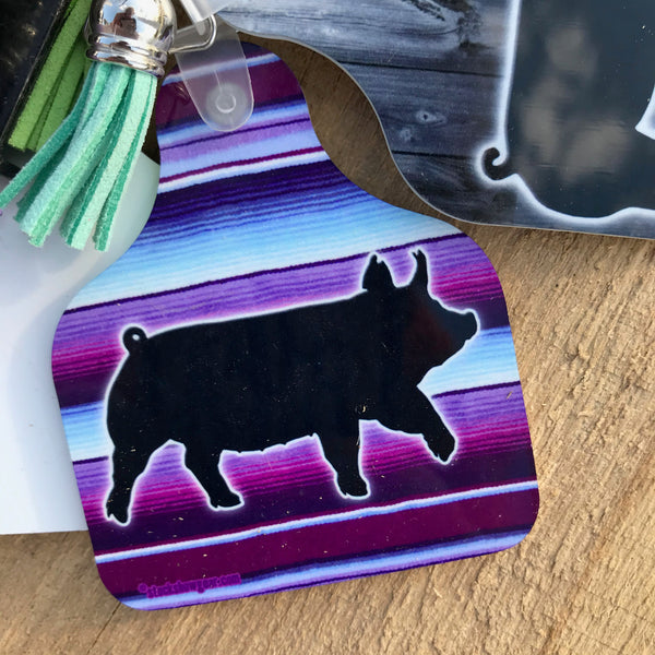 PREVIEW Pig Ear Tag Shaped Key Tags-more to be listed by 11/20