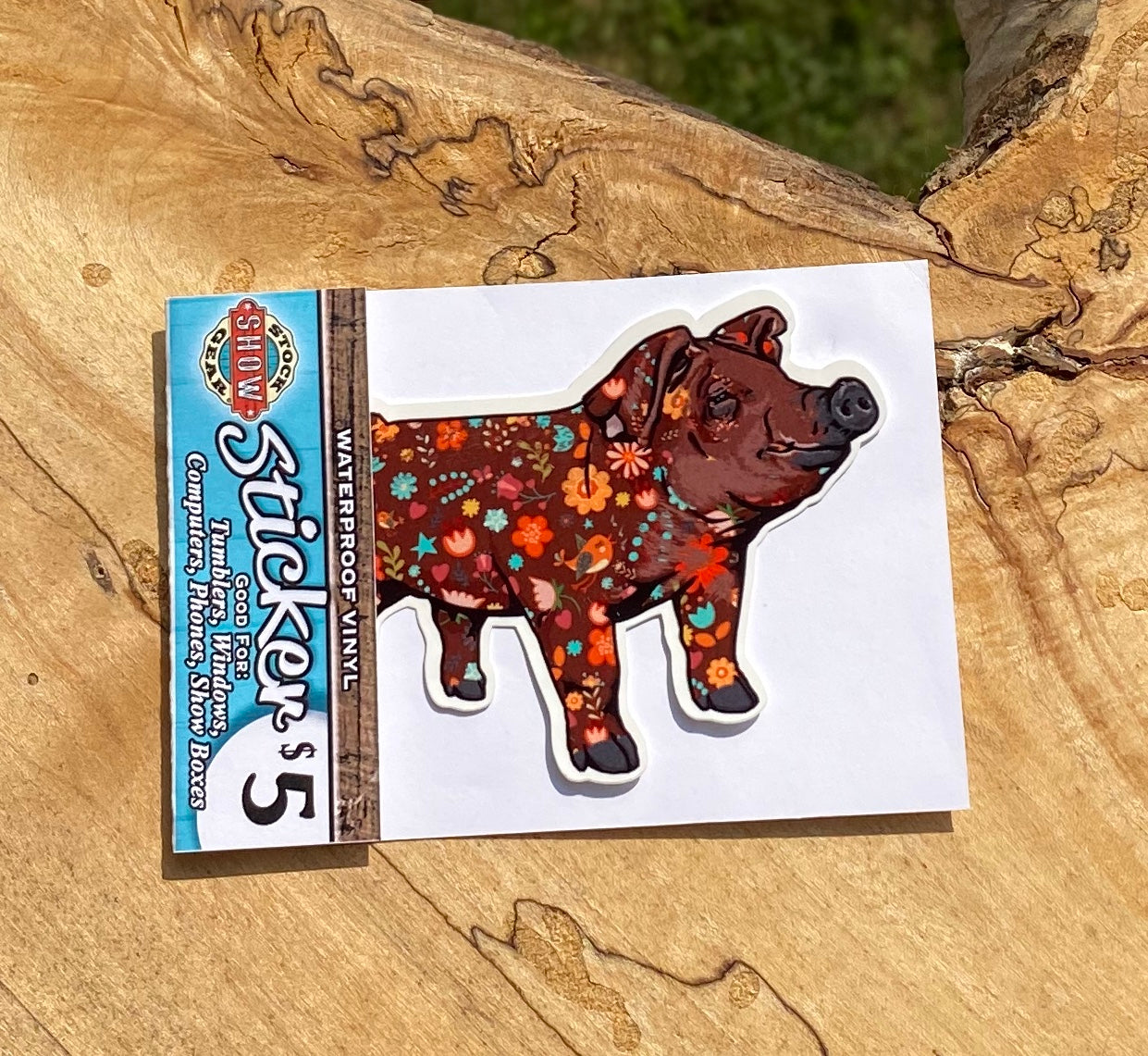 Floral Duroc Sticker