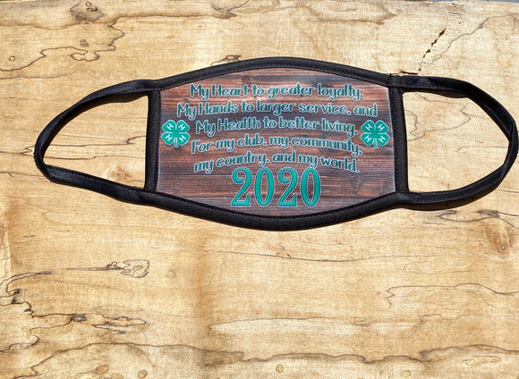 4-H Pledge Face Masks-Limited Editions-In Stock