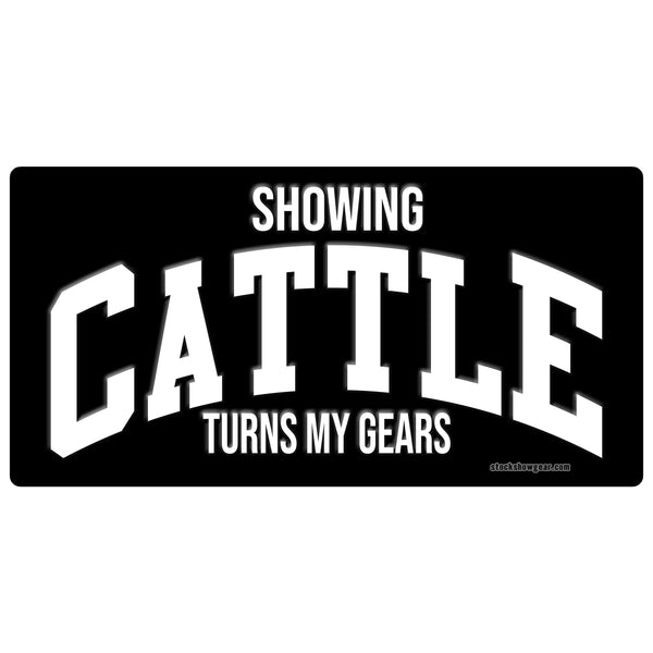 Showing Pigs Turns My Gears License Plates