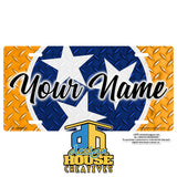 Tennessee Stars Personalized  License Plate