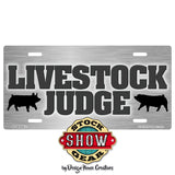 Livestock Judge License Plate