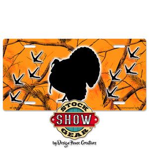 Camo Turkey License Plate