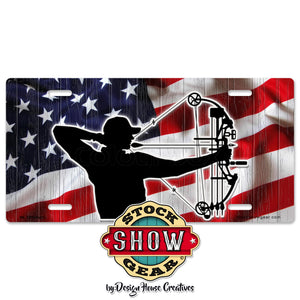 American Flag Crossbow License Plate
